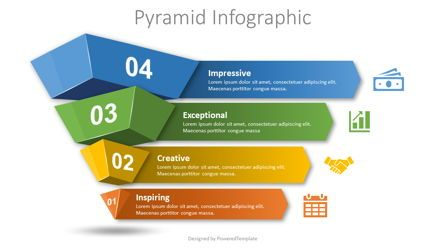 Business Models: 4 Layer Pyramid Infographic #08681