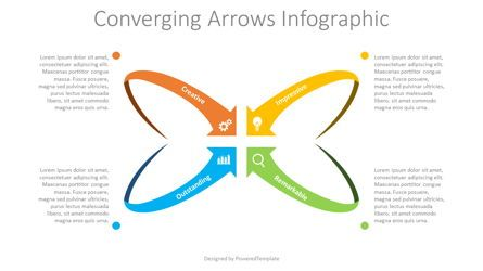 Process Diagrams: Converging Arrows Infographic #08687