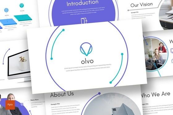 Presentation Templates: Olvo - PowerPoint Template #08689