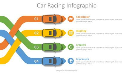 Infographics: Car Racing Infographic #08694