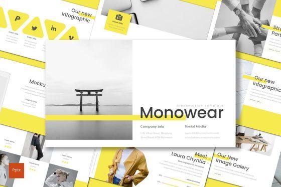 Presentation Templates: Monowear - PowerPoint Template #08695