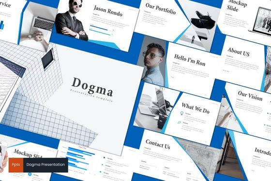 Presentation Templates: Dogma - PowerPoint Template #08696