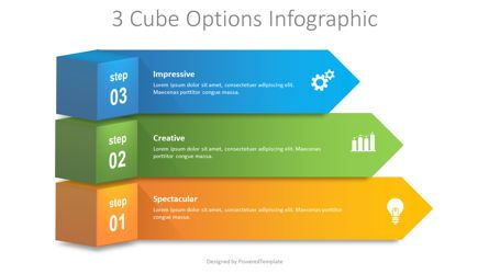 Infographics: 3 Cube Options Infographic #08697