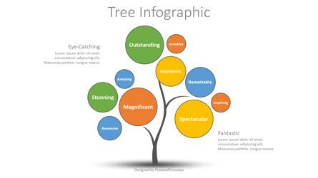 Education Charts and Diagrams: Creative Tree Infographic #08700