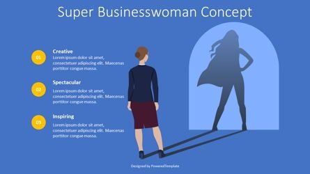 Presentation Templates: Super Businesswoman Concept #08706