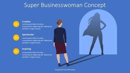 Presentation Templates: Super Businesswoman Concept #08706