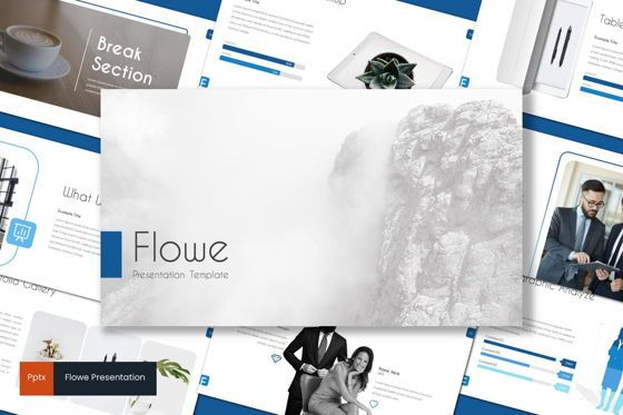 Presentation Templates: Flowe - PowerPoint Template #08708