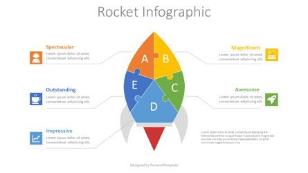 Puzzle Diagrams: Puzzle Rocket Infographic #08709