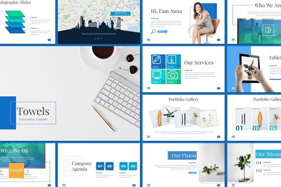 Presentation Templates: Towels - Google Slides Template #08710