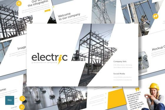 Presentation Templates: Electric - Keynote Template #08713