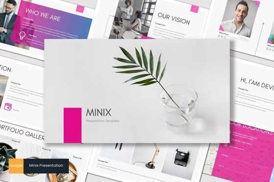 Presentation Templates: Minix - Google Slides Template #08714