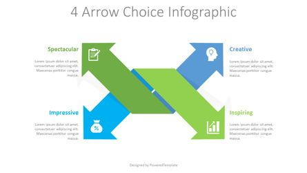 Infographics: 4 Arrow Choices Infographic #08715