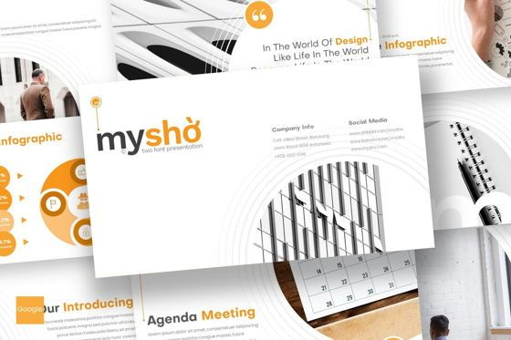 Presentation Templates: Myshio - Google Slides Template #08717