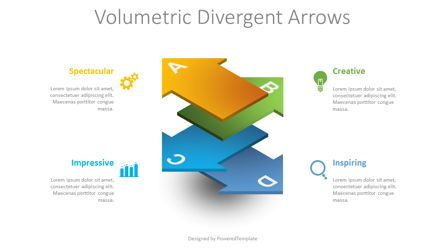 Infographics: Volumetric Divergent Arrows #08718