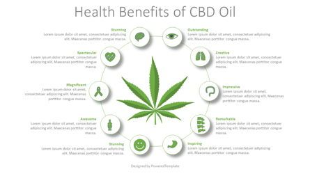 Medical Diagrams and Charts: Health Benefits CBD Oil Infographic #08721