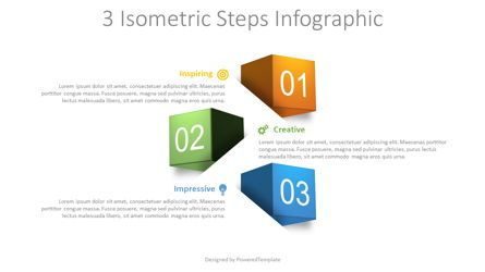 Infographics: 3 Isometric Steps Infographic #08724