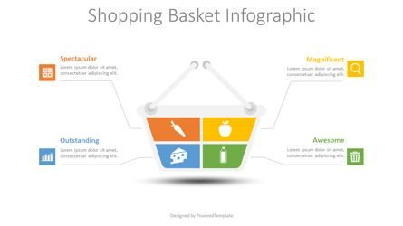 Infographics: Shopping Basket Infographic #08726