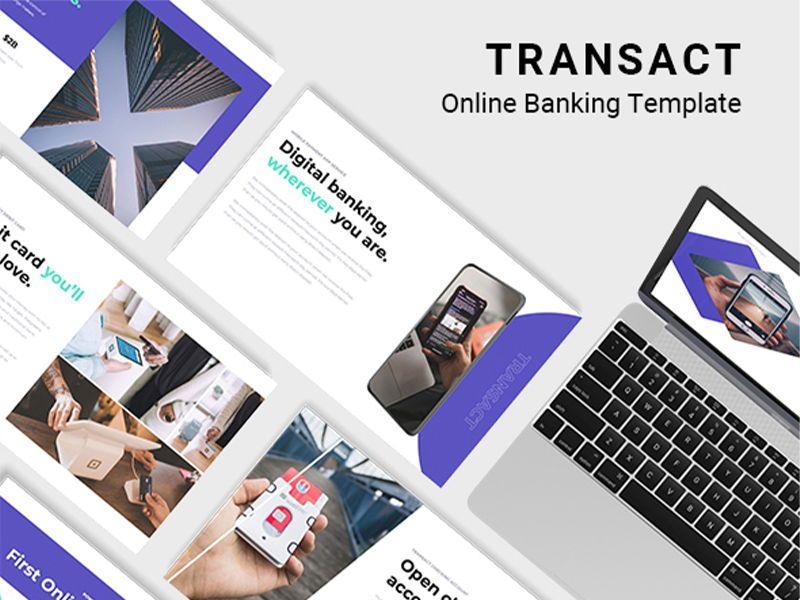 Transact Online Banking Googleslide Template, 08727, Presentation Templates — PoweredTemplate.com