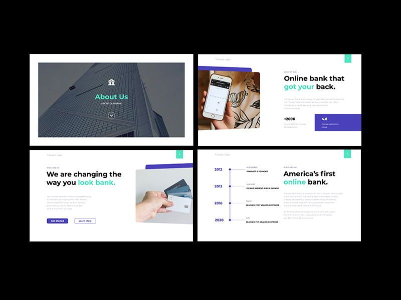 Transact Online Banking Googleslide Template, Slide 2, 08727, Presentation Templates — PoweredTemplate.com