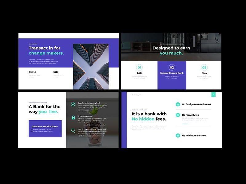 Transact Online Banking Googleslide Template, Slide 3, 08727, Presentation Templates — PoweredTemplate.com