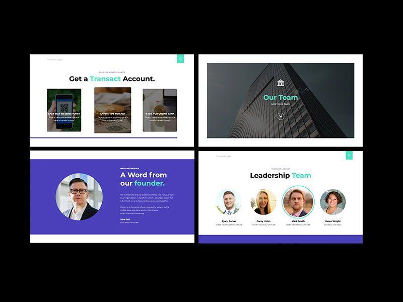 Transact Online Banking Googleslide Template, Slide 4, 08727, Presentation Templates — PoweredTemplate.com