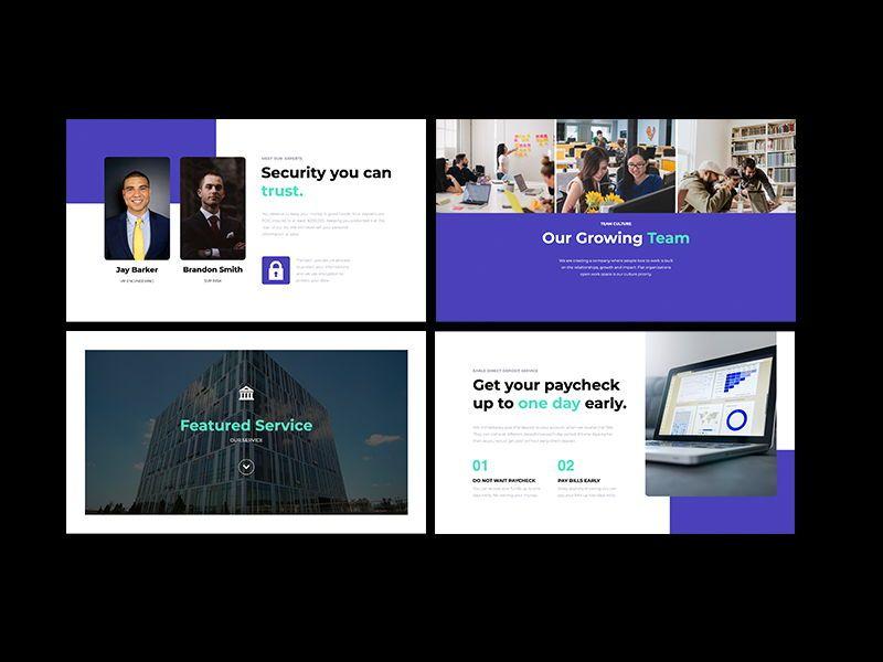 Transact Online Banking Googleslide Template, Slide 5, 08727, Presentation Templates — PoweredTemplate.com