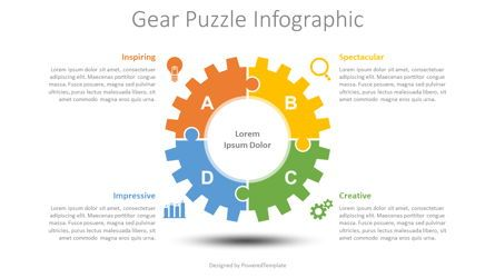 Infographics: Gear Puzzle Infographic #08730