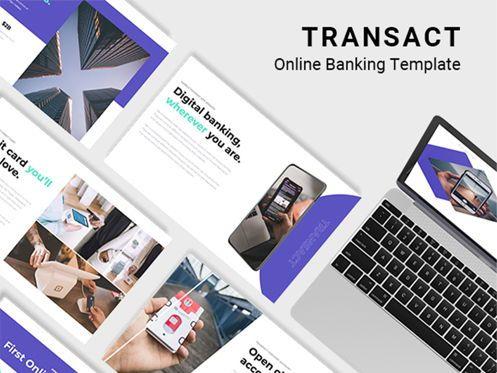 Presentation Templates: Transact Online Banking Powerpoint Template #08731