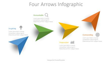 Infographics: 4 Colored Arrows Infographic #08732