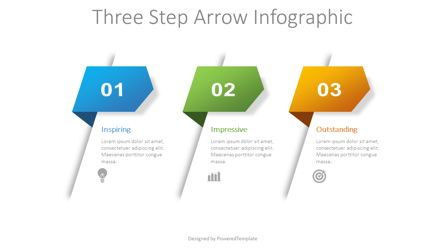 Process Diagrams: 3 Step Arrow Infographic #08736