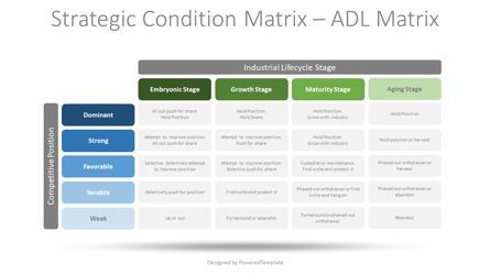 Business Models: Strategic Condition Matrix – ADL Matrix #08750