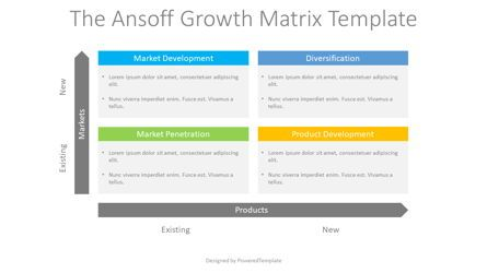 Business Models: The Ansoff Growth Matrix #08753