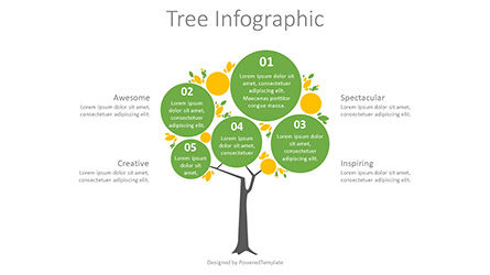 Infographics: Round Crown Tree Diagram #08754