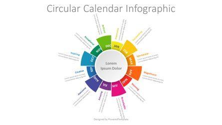 Infographics: Circular Calendar Infographic #08763