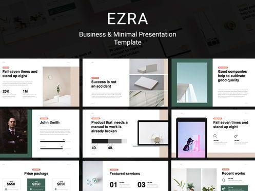 Presentation Templates: EZRA Minimal Business Powerpoint Template #08764