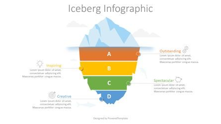 Education Charts and Diagrams: Divided Iceberg Infographic #08765