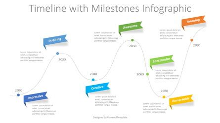 Timelines & Calendars: Timeline with Milestones Infographic #08766