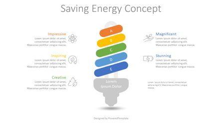 Infographics: Saving Energy Concept Infographic #08768