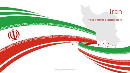 Presentation Templates: Festive Iran State Flag #08770