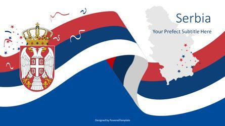 Presentation Templates: Festive Serbian State Flag #08771
