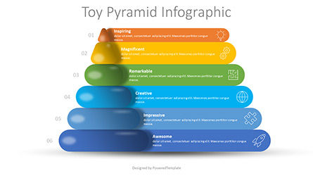 Stage Diagrams: Toy Pyramid Infographic #08773