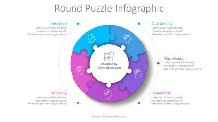 Puzzle Diagrams: Round Puzzle Infographic #08774