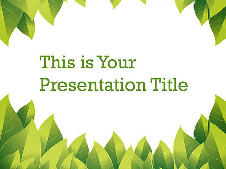 : Green Nature Free Google Slides Template #00004
