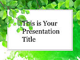 : Green Branch Free Google Slides Theme #00005