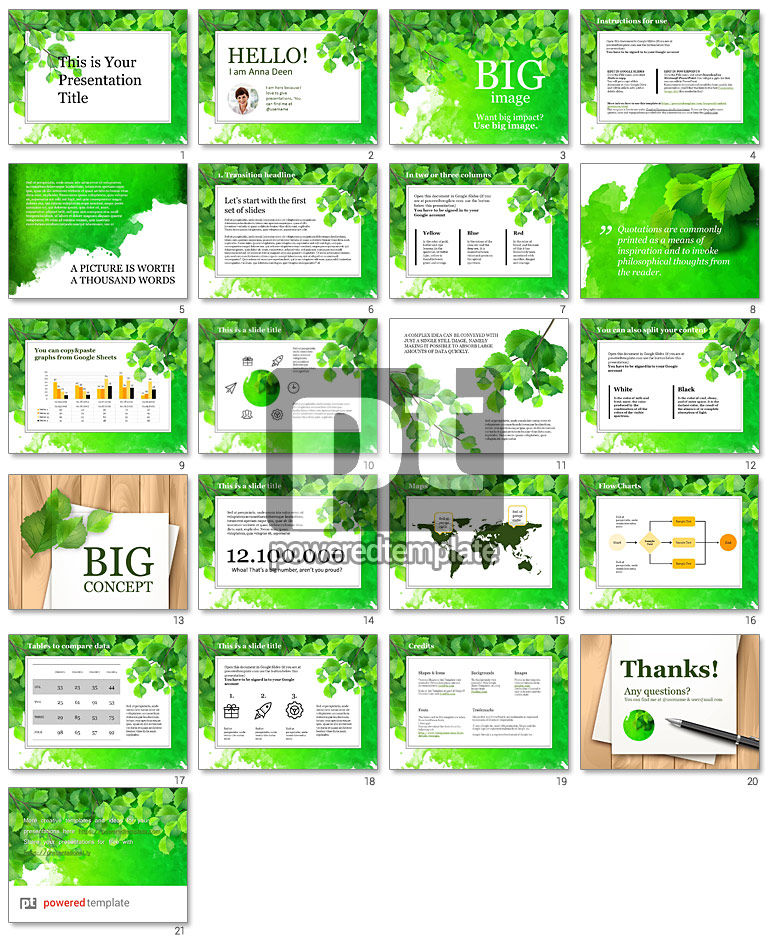 Green Branch Free Google Slides Theme