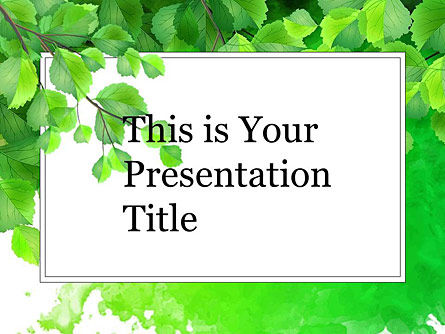 Green Branch Free Google Slides Theme PoweredTemplatecom - Slides themes