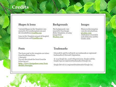 Green Branch Free Google Slides Theme | PoweredTemplate com