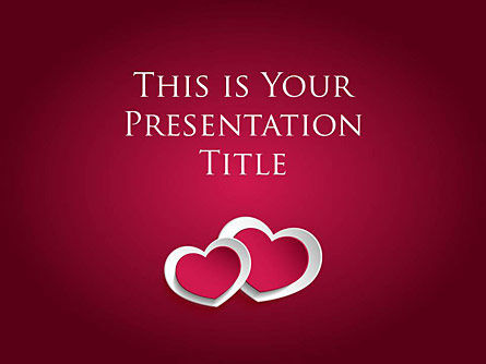 : Two Hearts Google Slides Presentation Template #00007