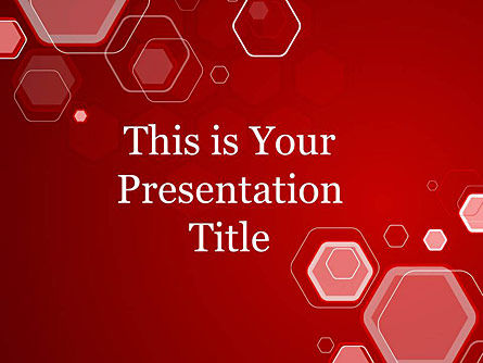 : Hexagon Google Slides Template Theme #00011