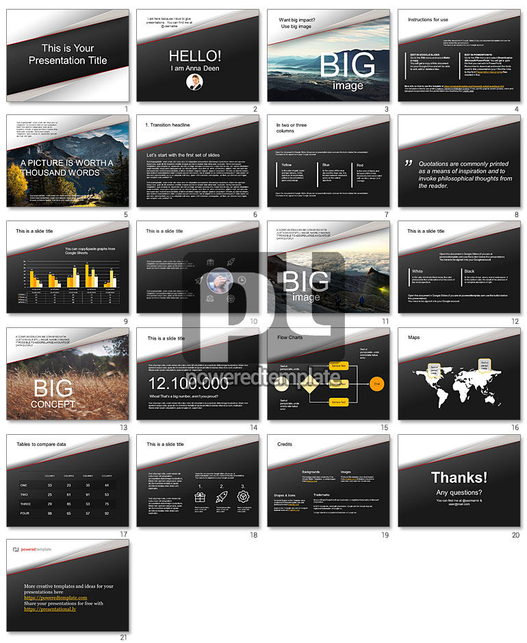Mountainous Free Google Slides Theme